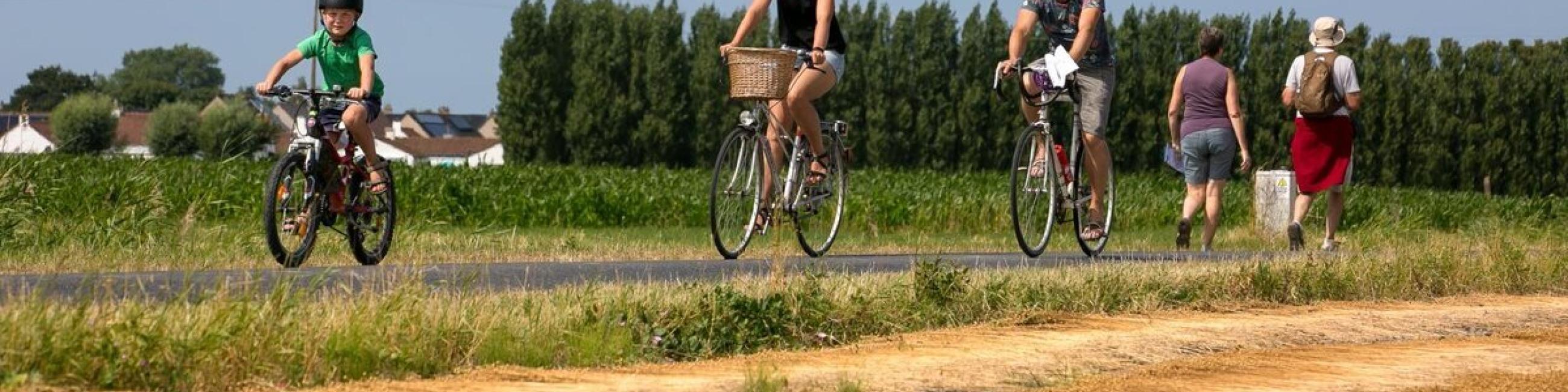 fietsen en wandelen