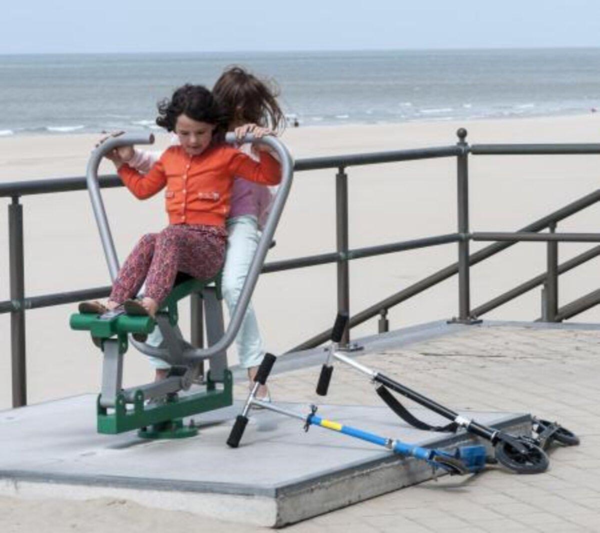 Fitnessen op de zeedijk