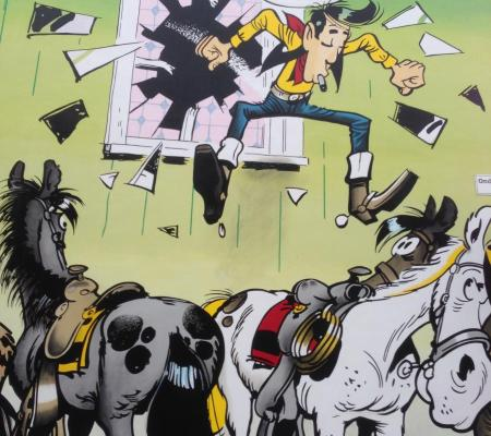 Stripmuur Lucky Luke